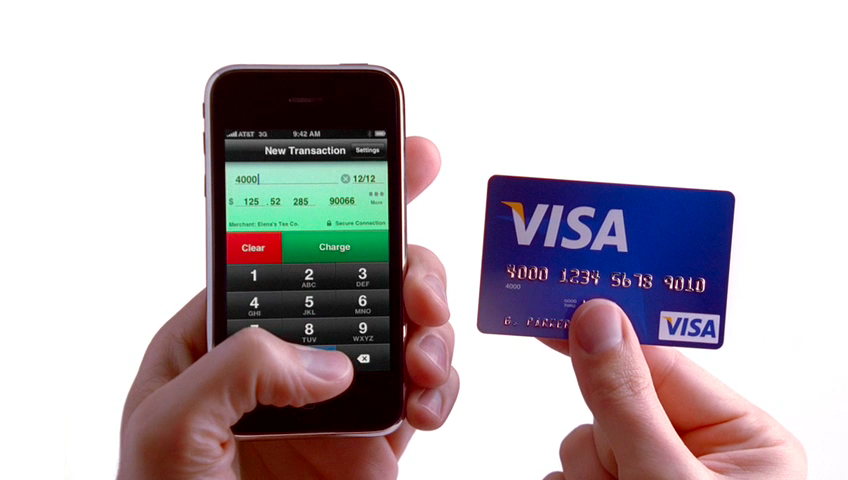 Credit Card Terminal iPhone ad